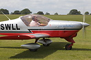The aircraft carries the name of Jo Whiley on the nose - she is a loca...