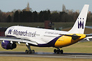 Monarch A330 G-EOMA has recently had the airline's billboard-style tit...