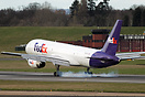 FedEx Express Boeing 757 N916FD arrives at Birmingham for ground train...