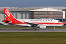 B-4091 is the 2nd Airbus A319 for China United Airlines, taxing to tak...