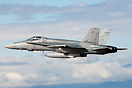 RAAF McDonnell Douglas F/A-18A Hornet takes off for formation display ...