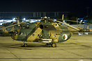 Rockets armed Mi-17 resting at night during some military exercises