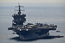 The US Navy Aircraft Carrier USS Enterprise near Athens, Greece.