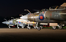Former 237 OCU Buccaneer S.2B XX900 heads the line up at night with XX...