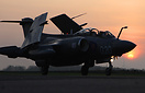 Buccaneer S.2B XX894 taxying back at sunset after its fast taxy run.