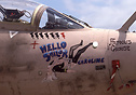 Nose art on XX885 'Hello Sailor' with the An-12 kill marking applied i...