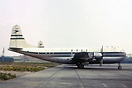 "BOAC Stratocruiser G-AKGK ""Canopus"" at Heathrow."