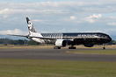 Taxi to the apron for static display after landing at RNZAF 75th Anniv...