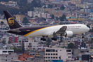 A UPS Boeing 767 N336UP landing in Quito