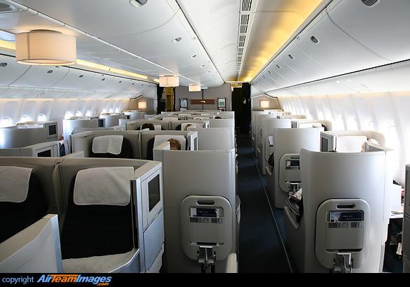 British airways boeing 777 200 interior for Interieur 777