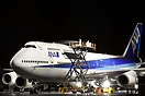 ANA Boeing 747-400 having a wash