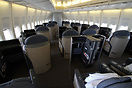 United Charter Boeing 747-400 N194UA first class section in the nose o...