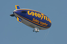 The Goodyear Blimp G-HLEL seen here over Wetherby Racecourse at an alt...