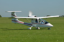 The Sky Arrow 650 (seen here is G-BYZR) is a tandem seat, pusher confi...