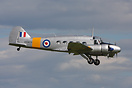 Avro Anson WD413 seen here arriving at Waddington Airshow to take part...