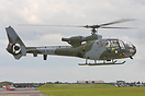 Gazelle seen here arriving at Waddington Airshow 2012 heading to the s...