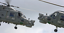 Royal Navy Lynx display team seen here nose to nose at Waddington Air ...