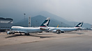 Two generations of 747's on the cargo apron