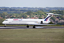 Swiftair MD-83 EC-KCX seen here touching down at Leeds