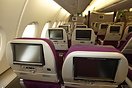 Malaysia Airlines Airbus A380 Economy class cabin