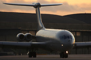 101 Sqn VC10 C.1K taxying out at Brize Norton during sunset.