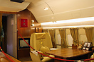 View of the VIP interior at the front of the main cabin of Omani Royal...