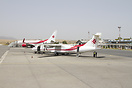Two Air Algerie airplanes during their turnover at Constantine