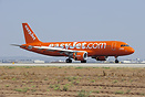 EasyJet Airbus A320-200 G-EZUI after landing in Tel Aviv with open bra...