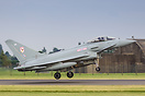 RAF 29(R)Sqn Eurofighter Typhoon FGR4 ZK308 rotating from runway 07 at...