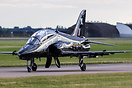 RAF 100Sqn British Aerospace Hawk T1A XX255 from Leeming Taxiing for t...