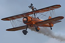 The Breitling Wingwalkers displaying at Bruntingthorpe for the annual ...