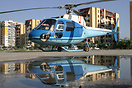 AS350B 02 at Tirana-Lapraka is operated by the Ministry of Interior an...