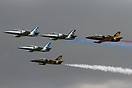 "The ""RUSS"" aerobatic display team consists of five L-39 Albatross airc..."
