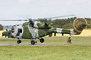 Westland Lynx AH9A ZF538 touching down on the Forward Arming and Refue...