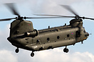 Royal Air Force Chinook HC2 ZA713 on final approach for the Forward Ar...