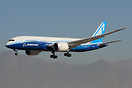 Arrival of the Boeing 787-8 Dreamliner to FIDAE 2012, making it the fi...