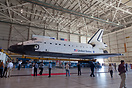 Space Shuttle Endeavour (OV-105) on display at LAX