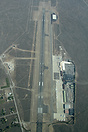 An aerial view of Jackson Hole Airport.