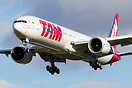 TAM`s latest Boeing 777 PT-MUF on short final to Rwy 27L @ London Heat...