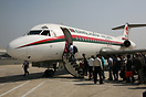Boarding the last Biman Bangladesh Fokker F-28 for a flight to Cox's B...