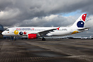 This ex OLT Express A320 sits and awaits for delivery for low cost Col...