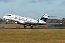 Global Express OE-IRP departs London Luton for Paris Le Bourget as 'Ex...