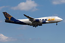 FJ411 Air Pacific flight on final for 23L in wet leased Atlas Air airc...