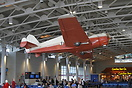 Bellanca 14-9L Cruisair Junior N1KQ is suspended from the ceiling at C...