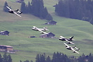 2 Hawker Hunter with 2 de Havilland Vampire