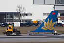 Freshly painted tail of the next Vietnam Airlines A321.