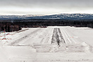 Short final runway 36, runway covered in snow and ice