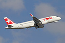 HB-JLT the first Airbus A320 for Swiss Airlines to be fitted with shar...