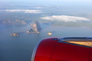Pangna Bay (Famous for James Bond Island), shot taken from AirAsia's A...