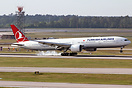 Inaugural flight from Turkish Airlines lands on runway 8R. Service fro...